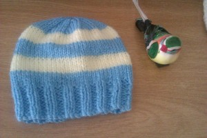 this i made up as i went along - using leftover yarn.