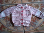 Top down raglan baby sweater