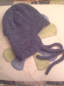 Knitted CHilds Hat by Fiona Duthie