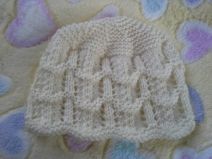 Simple lace baby beanie