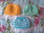 2016-66-68 knitted lacy hat for baby (2-4)