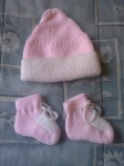 2016-100 short row hat (20) and 2016-101 bootees (50)